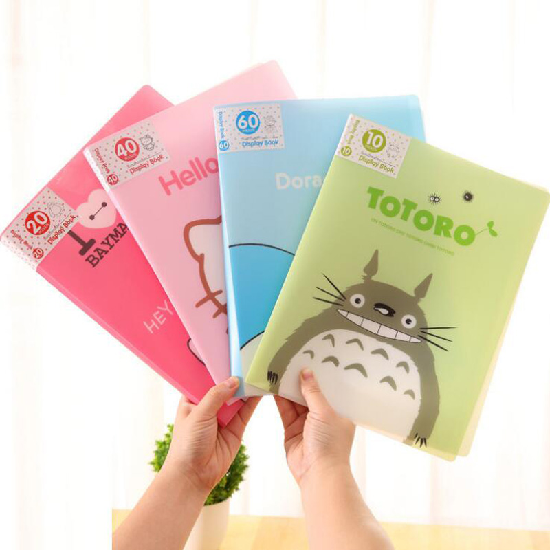 Cute 10 Pockets Totoro A4 Clear Page Document File Bag Book Paper Storage Holder School Office Supply Stationery