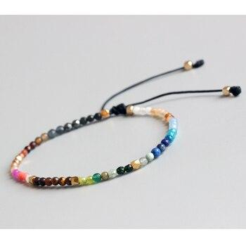 Lucky Stone Simple Beads Adjustable Hollywood Beaded Bohemia Bracelets 1
