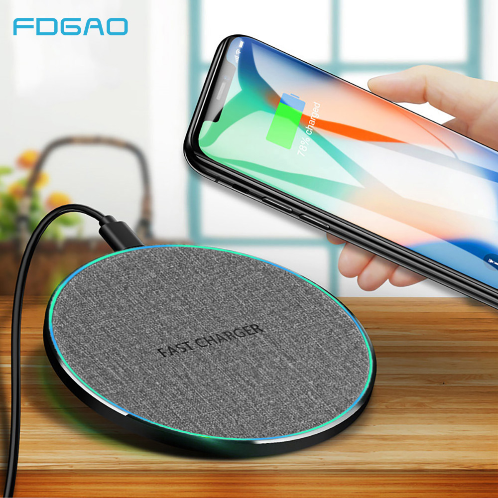 FDGAO Fast Charging 10w Qi Wireless Charger Pad For iPhone XS Max XR X 8 Airpods 2 Quick Charge 3.0 For Samsung S8 S9 S10 Note 9FDGAO Fast Charging 10w Qi Wireless Charger Pad For iPhone XS Max XR X 8 Airpods 2 Quick Charge 3.0 For Samsung S8 S9 S10 Note 9