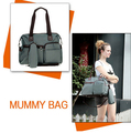 2014 New Design Mummy Bag High quality baby bag diaper bag Retail Multifunctional Mummy Favorite Nappy Bag FREE SHIPPING