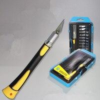 Diy WL-9312/9305/9304 hobby faca conjunto/faca de escultura/faca de rotulação por atacado caneta faca pcb ferramentas cutte conjunto  madeira & papel-corte