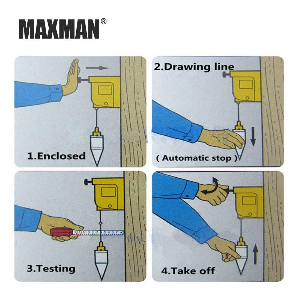 Купить с кэшбэком MAXMMAXMAN 3m Automatic Plumb Bob Magnetic Hanging Wire Hammer Verticality Measurement  Hand DIY Tools Magnetism