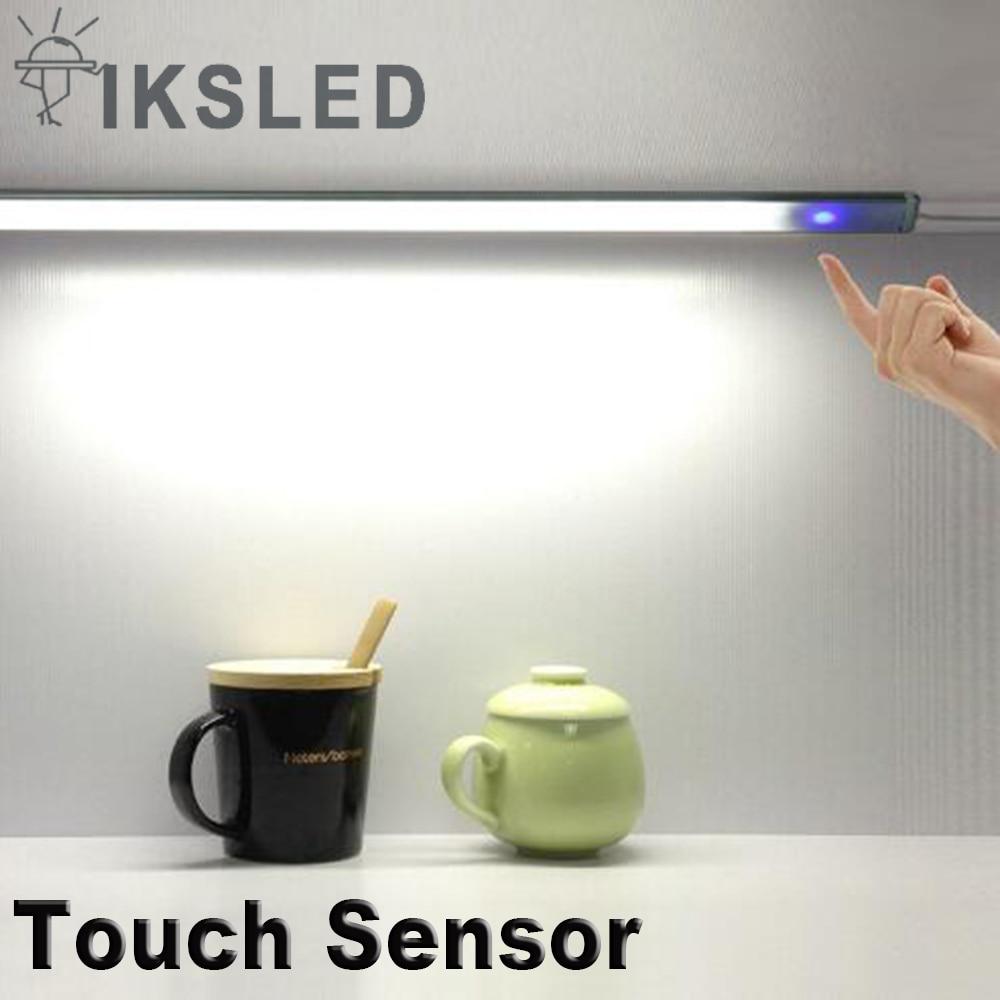 Светодиодные полосы 1 шт. 0,5 м 5050 кабинет светодиодные полосы затемнения сенсорный Сенсор лампа Кухня шкаф светодиодные полосы