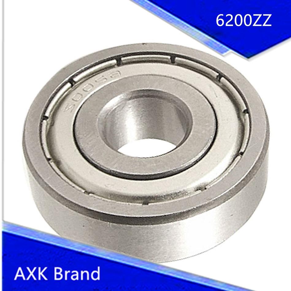 AXK 6200ZZ 2 Metal Shields Deep Groove Ball Bearing 10mm x 30mm x 9mm mtgather durable steel 6800zz deep groove ball bearings two side metal shields 10x19x5mm mechanical parts accessories