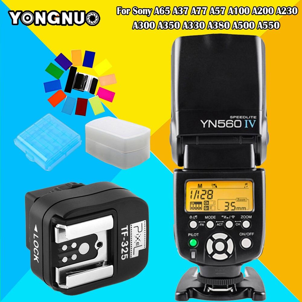 YONGNUO YN560IV YN560 IV Speedlite & TF-325 Converter For Sony A65 A37 A77 A57 A100 A200 A230 A300 A350 A330 A380 A500 A55Camera
