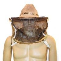 Engrossado Anti abelha Máscara Cap Chapéu Com Cara de Proteção Apicultor Apicultura Anti mordida Net Cabeça Cobrindo Chapéu Para apicultura|Acessórios para vestuário de proteção| |  -