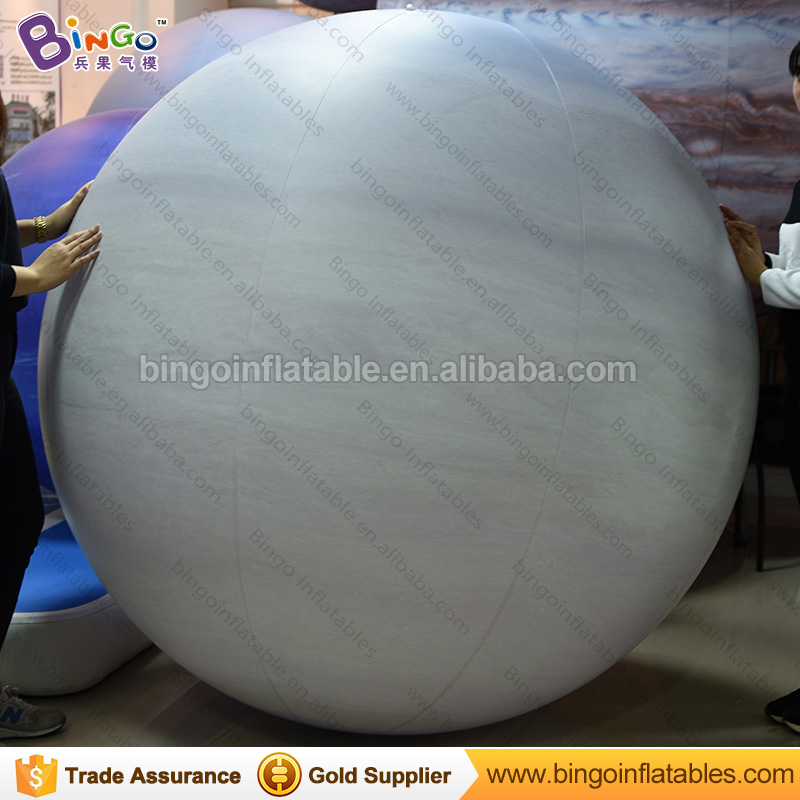 2017 Free Shipping PVC Inflatable hanging Saturn Paintball sealed ball with Free Blower for Stage Decoration