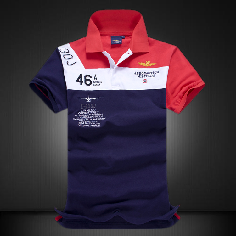 Polo   Shirt Men High Quality 100% Cotton Camisas Masculinas Men's   POLO   Shirt Air Force One   Polos   Embroidered Male Clothing