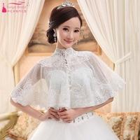 High Neck Lace Wedding Wrap/Shawl Elegant Bridal Wedding Accessories Lace Jacket suit for Shoulder Around 40cm ZJ017