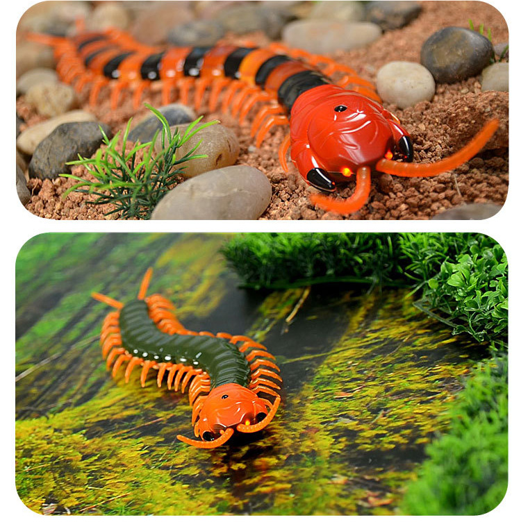 Dog Toy Electric RC Centipede Fake Insect Remote Control Centipede Creative Electric Tricky Funny Cat Toy For Cat 12