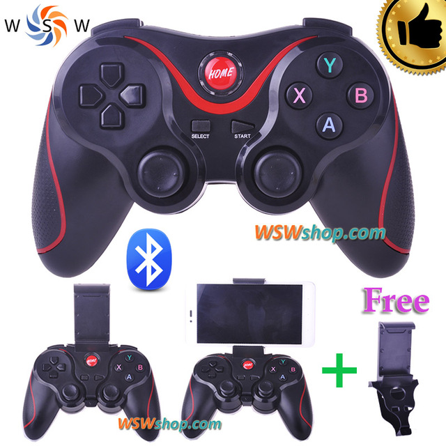 Android Bluetooth Gamepad Joystick For Android Smart Phone TV Box Joystick Wireless Bluetooth Joypad Game Controller With Holder