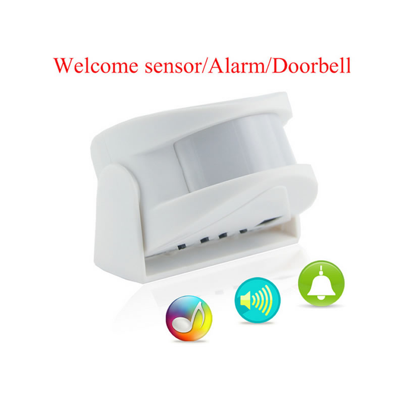 Wireless Infrared Motion Detector Sensor Door Bell Of Welcome Alarm And Entry Doorbell For Home Apartment Store Office wireless split welcome motion sensor alert alarm system doorbell door bell with receiver and transmitter home office security