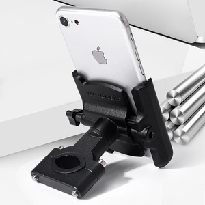 Image 3 - Universal Aluminum Alloy Motorcycle Phone Holder Support Telephone Moto Holder For GPS Bike Handlebar Holder For iPhone Android