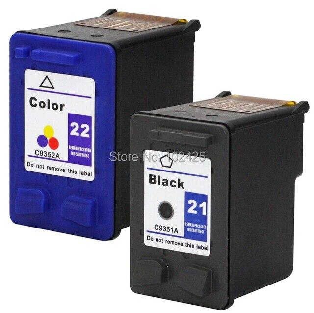 For HP Cartridges 21 and 22 For HP F380 F2100 F2110 F2240 F2280 F2250 F4100 3915 3920 D1530 Printer Cartridge For HP 21 22