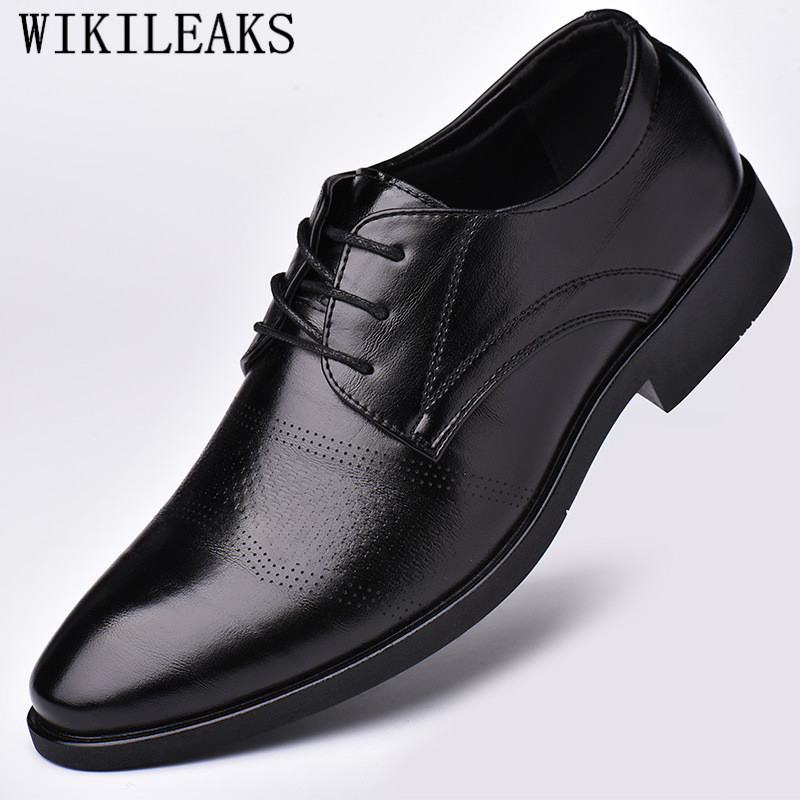 Designer Hollow Out Oxfords Formal Shoes Men Leather Dress