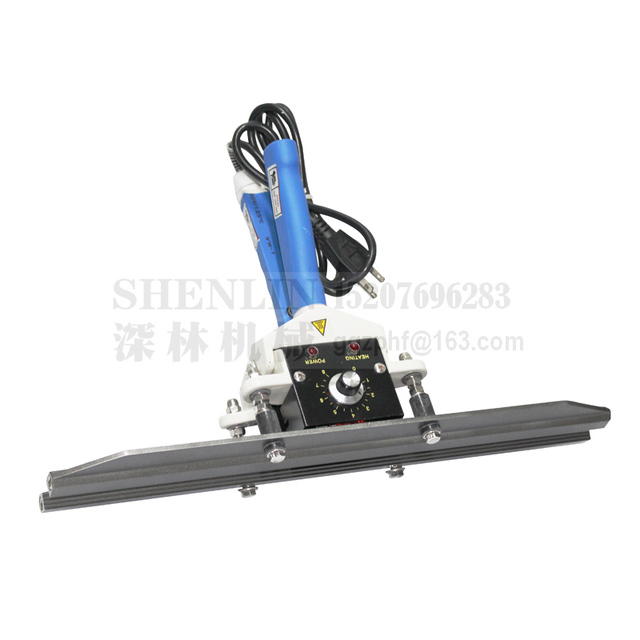 Aluminum foil bag sealing tools equipment, very thick foil bags sealer packaging machine sealing length 400mm sealing width 10mm