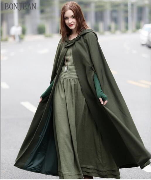 Trench   Coat For Women Free Shipping European And American Pure Color 2019 Spring Autumn Lengthened Temperament Cloak Overcoat