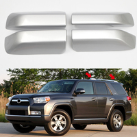 Exterior Accessories Roof Rails Luggage Carrier Rack End Cap Cover Shell Trim 4pcs Silver For Toyota 4Runner N280 2010 2018