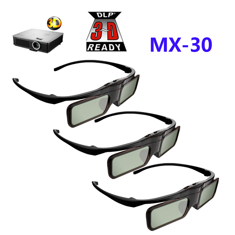 3pcs Active Shutter 3D glasses DLP glasses for BenQ W1070/W750/W1080ST Acer/Optoma/Dell 96-144HZ DLP-LINK projectors