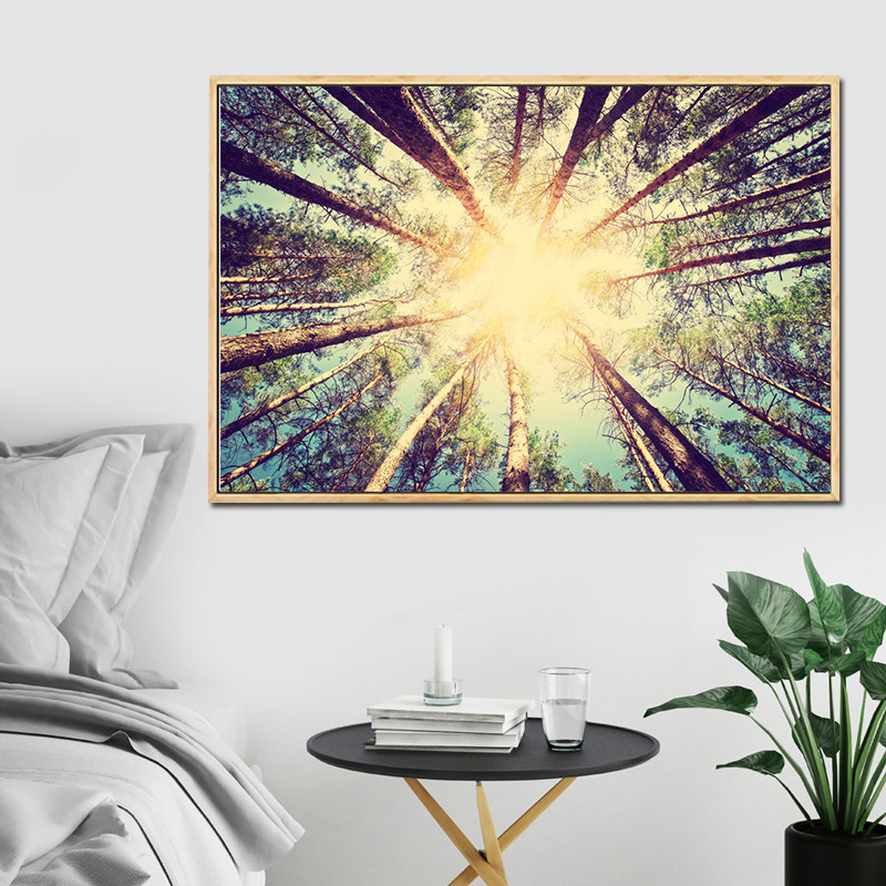 Canvas Painting Trees Landscape Poster Road to the Dream Wall ...