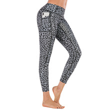 push up yoga leggings plus size pants women seamless/sport/gym sport fitness Leopard stitching