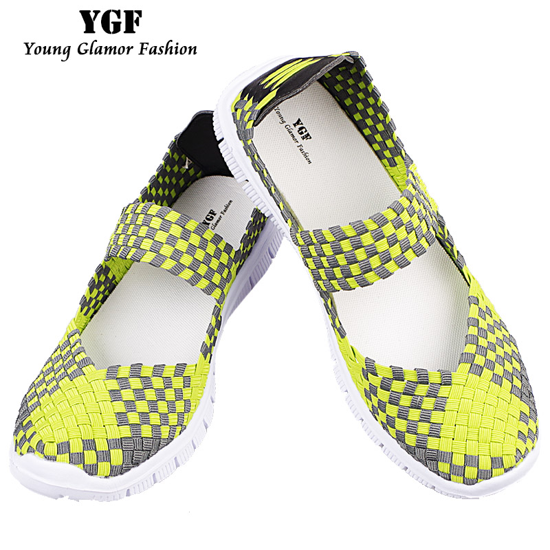 YGF Handmade Womens Shoes Flats Summer Breathable Air Mesh Flat Shoes Women Platform Slip on Loafers Round Toe Woven Shoes 2017 summer style women casual shoes swing shoes flat breathable air mesh fashion shoes platform feminino slip on red 40 lesiure