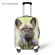 ELVISWORDS Protective Suitcase Cover Cute Bulldogs Pattern Elastic Dust-proof Luggage Kawaii Waterproof Accessorie