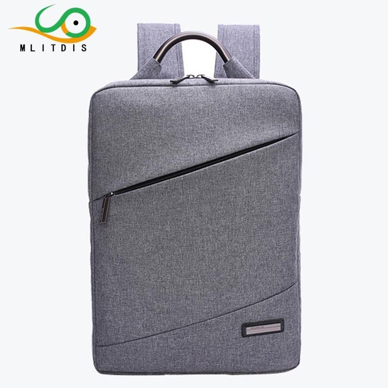ФОТО MLITDIS High Quality Linen Men Backpack New Fashion Designer School Bag for Teenage Boys Backpack Men's 14