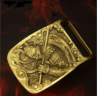 Retail New Style High Quality Solid Brass Cool 3D Monkey Belt Buckle For 4 0cm Wide
