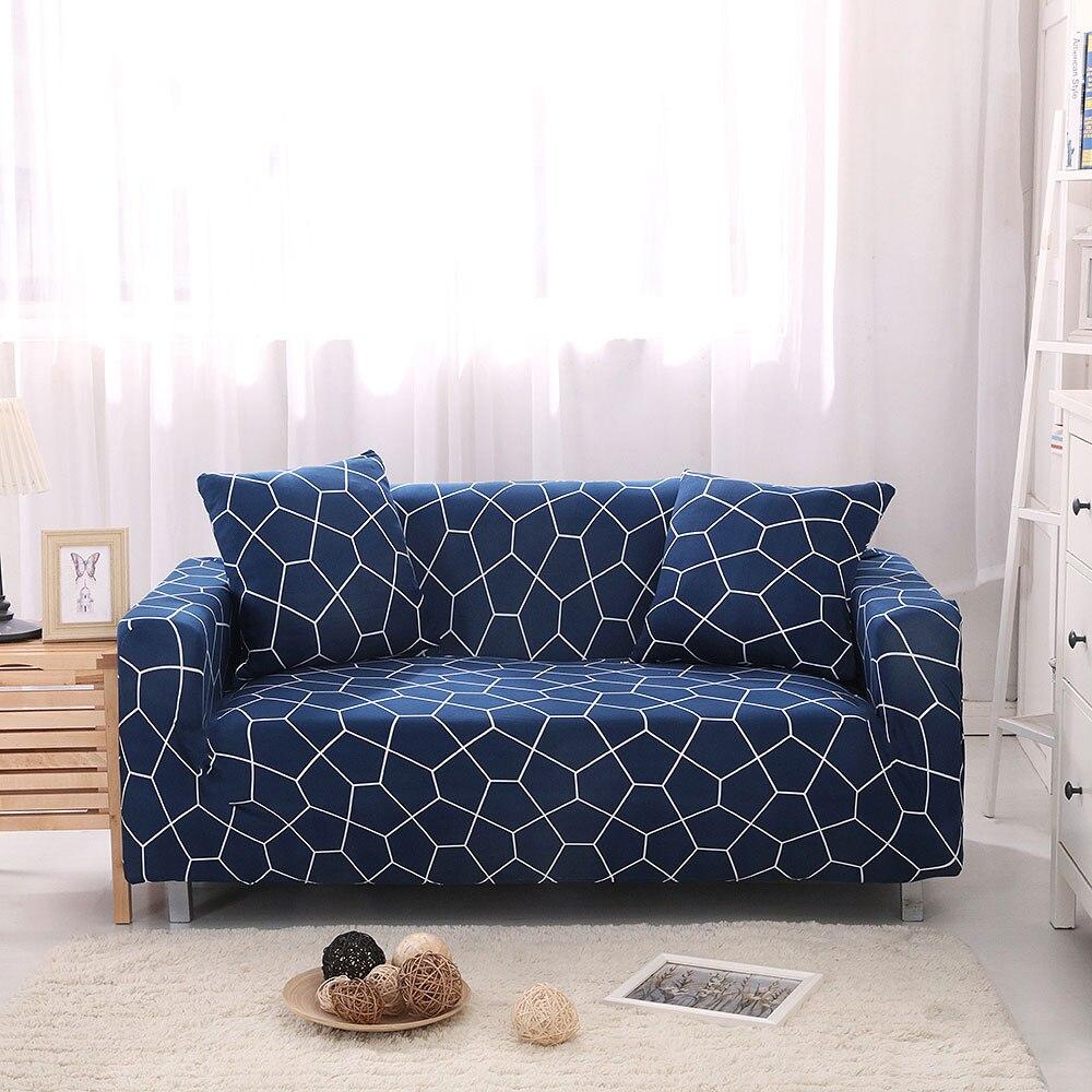 Housse de canapé géométrique Spandex housse de protection élastique pour canapé sectionnel pour Salon Canape Salon canapé Cubierta protecteur