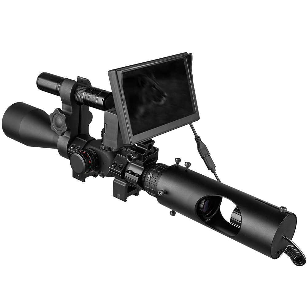 Mira telescópica de rifle con visión nocturna, visión óptica a prueba de agua, dispositivo de visión nocturna, caza táctica, LED infrarroja de 850nm, IR