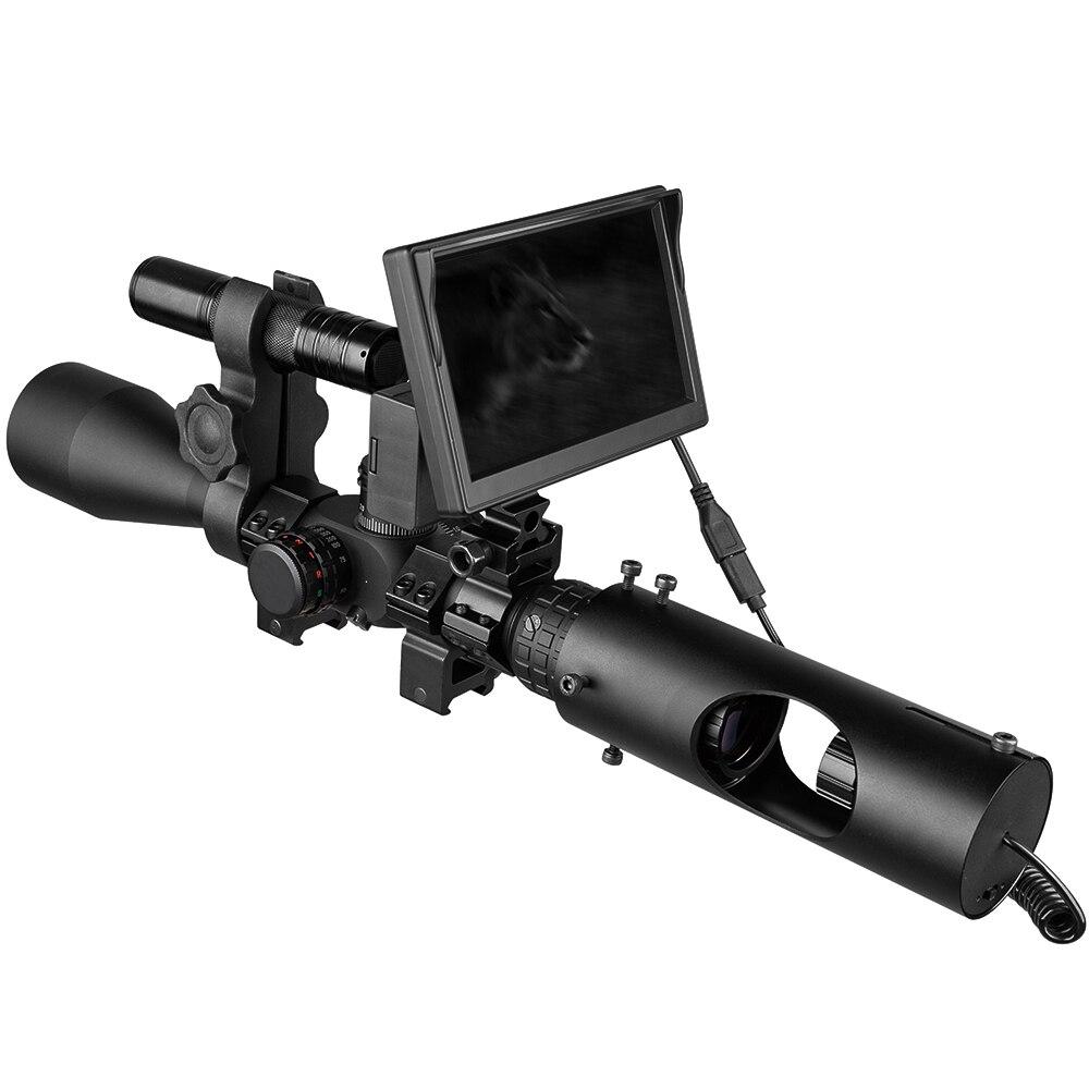 Visión Nocturna rifloscopio caza alcance óptica vista táctica 850nm infrarrojo LED IR impermeable visión nocturna dispositivo caza Cámara - 2