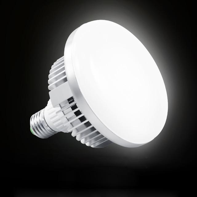65W 5500K 220V LED สตูดิโอวิดีโอ Daylight โคมไฟ E27 หลอดไฟสำหรับสตูดิโอถ่ายภาพ Softbox Strobe LIGHT