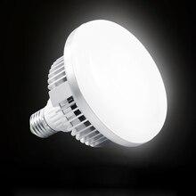 65W 5500K 220V LED 사진 조명 스튜디오 비디오 일광 램프 E27 전구 사진 스튜디오 Softbox 스트로브 빛