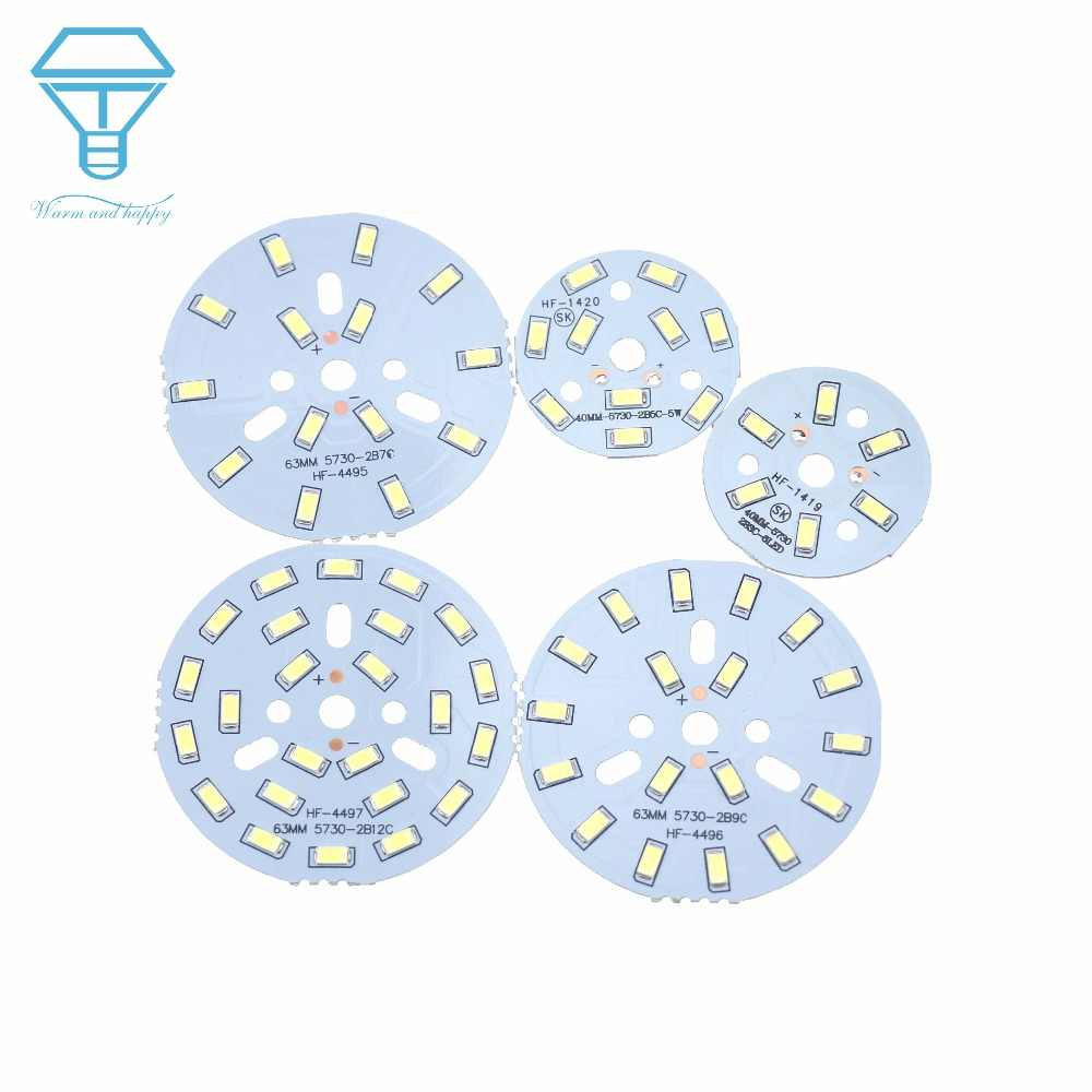 10pcs SMD5730 LED PCB Panel Light Lamp Beads Kit 3W32MM 5W 7W 9W 12W 18W 36W White Natural White Warm White Round Ceiling Lights