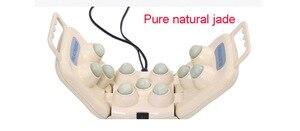 Image 5 - Soins de santé électrique Jade germanium pierre boules de massage pliable Tourmaline naturelle infrarouge lointain tapis de chaleur dos cou oreiller