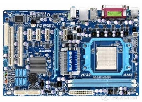D'origine carte mère pour Gigabyte GA-770T-D3L Socket AM3 DDR3 770T-D3L USB2.0 8G 770 De Bureau Carte Mère Livraison gratuite