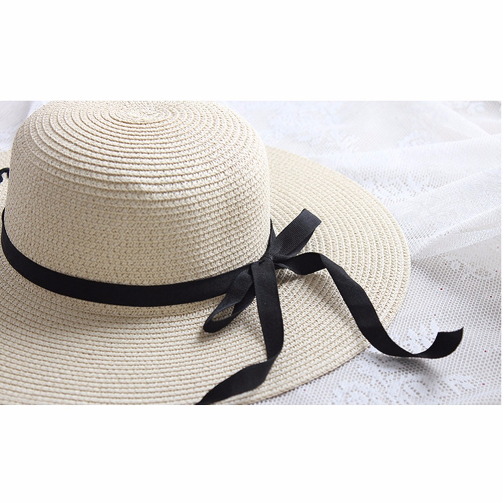 New Las Wide Brim Straw Beach Hats With Embroidery Women S Y Large Floppy Sun Caps Chapeu Praia In From Clothing Accessories On