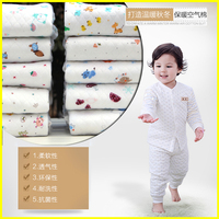 Air layer thick thermal underwear cotton baby close cloth