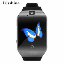 Irisshine C6 Unisex watch Q18S Smart Bluetooth Watch GSM Camera TF Card Wristwatch for Samsung Wholesale free shipping