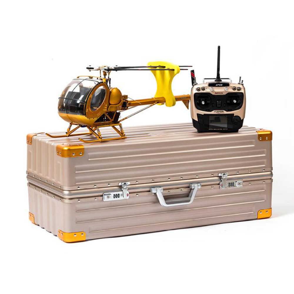 9CH RC Scale SCHWEIZER Hughes 300C Helicopter Brushless RTF All Metal high Simulation Remote Control Helicopter Aircraft Mode 2 global eagle 2 4g 480e dfc 9ch rc helicopter remote 3d drones rtf set 9ch rc 1700kv motor 60a esc carbon fiber body