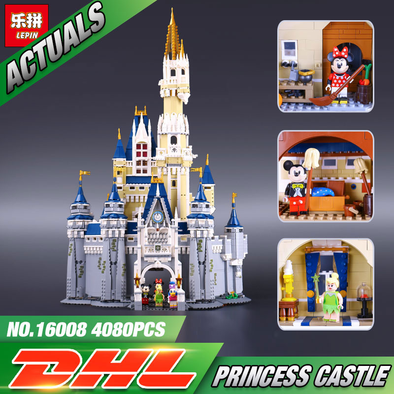 LEPIN 16008 Cinderella Princess Castle City  Model Building Block Kid Educational Toys For Children Gift Compatible 71040