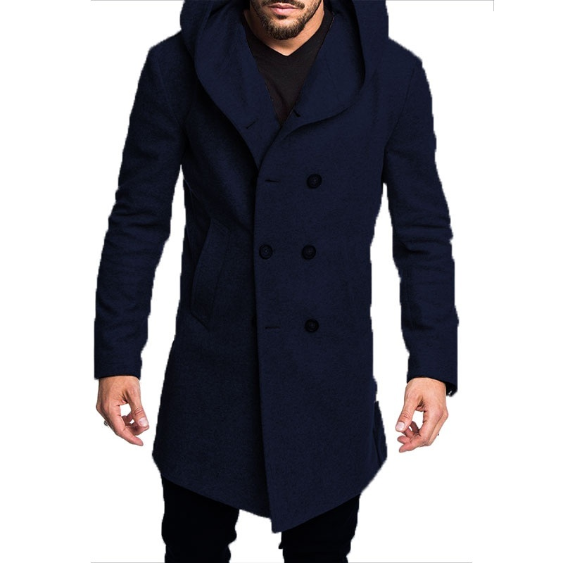 Hot DealsJacket Overcoat Hooded Gray Black Long Mens Spring Casual New Autumn for ZOGGA Outwear