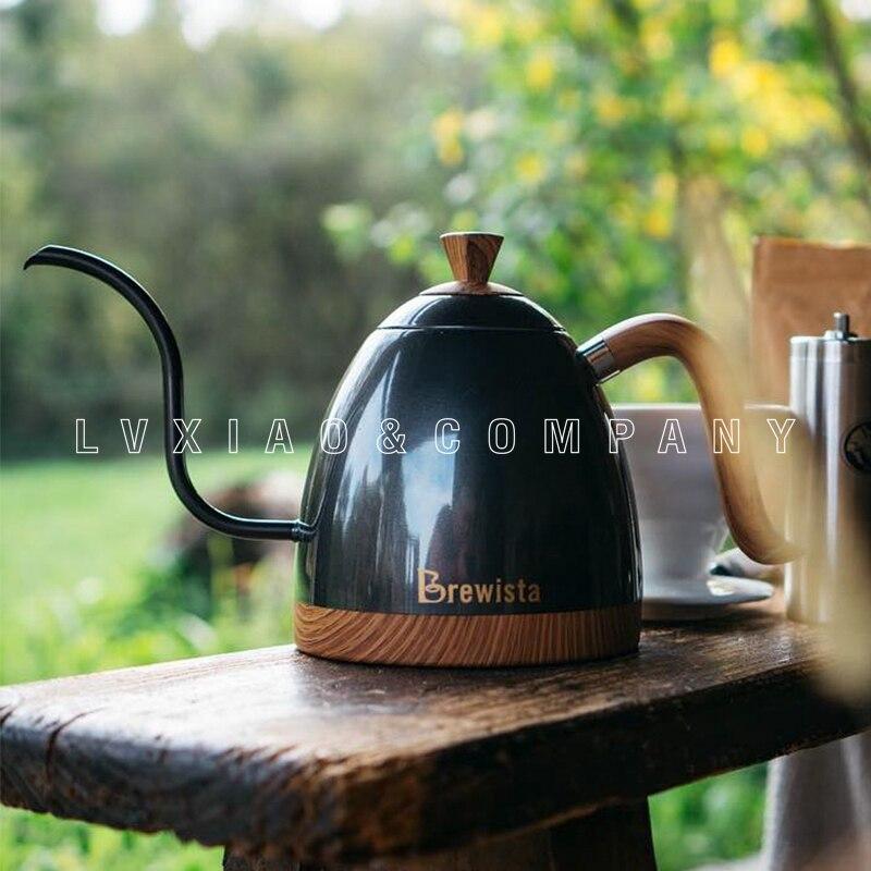 Tetera eléctrica de 600 ml/1L brewista/bonavita para control de temperatura de acero inoxidable de goteo de café 220V 1000W 50HZ-in Cafeteras from Hogar y Mascotas    1