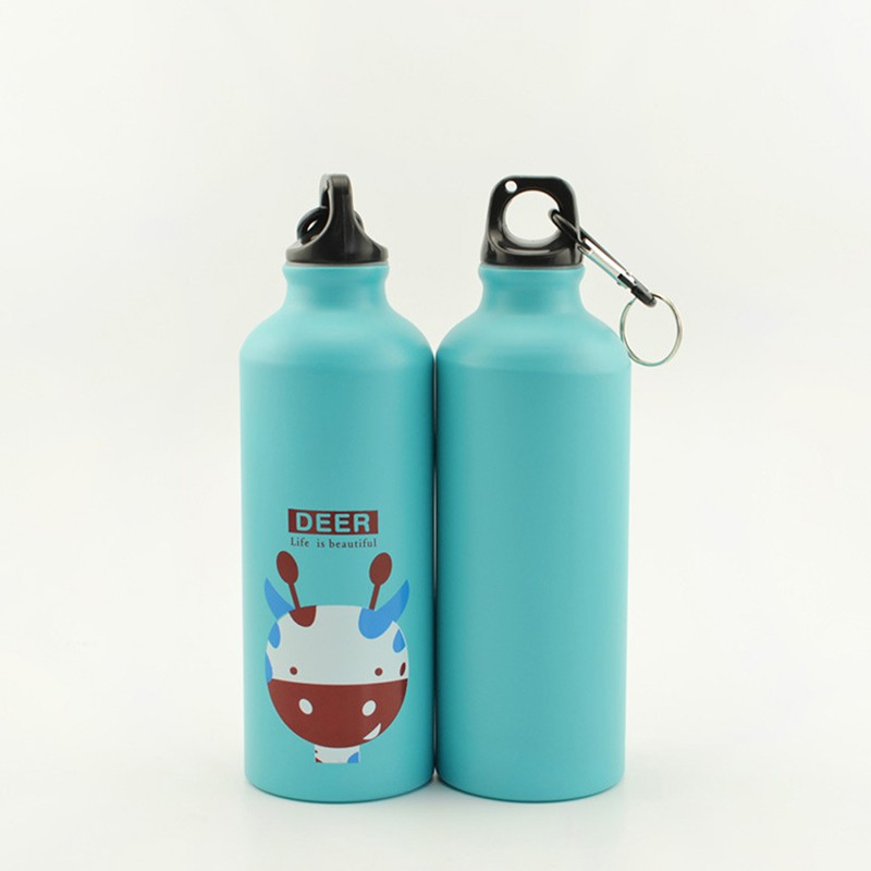 500ml Portable Outdoor Sport Water Bottle Aluminum Cute Cartoon Bottle Gifts