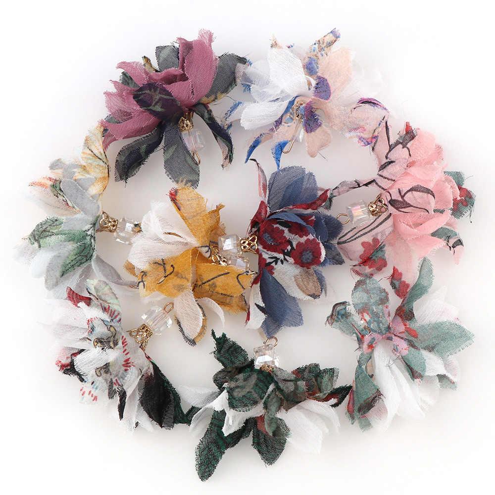 Phối Màu Tua Rua 10-30 cái/bộ DIY Hoa Lụa Polyester Quyến Rũ Mặt Dây Chuyền bông tai Giọt Tua Rua Thời Trang Nữ Trang Sức Túi phụ kiện