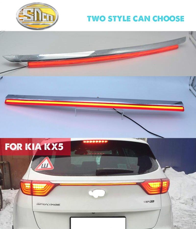 Pare-chocs arrière Feu arrière Pour Kia KX5/Sportage IV (QL) 2016 2017 Rouge Réflecteur LED Lampe De Frein Signal D'avertissement Conduisant La Lampe De Brouillard