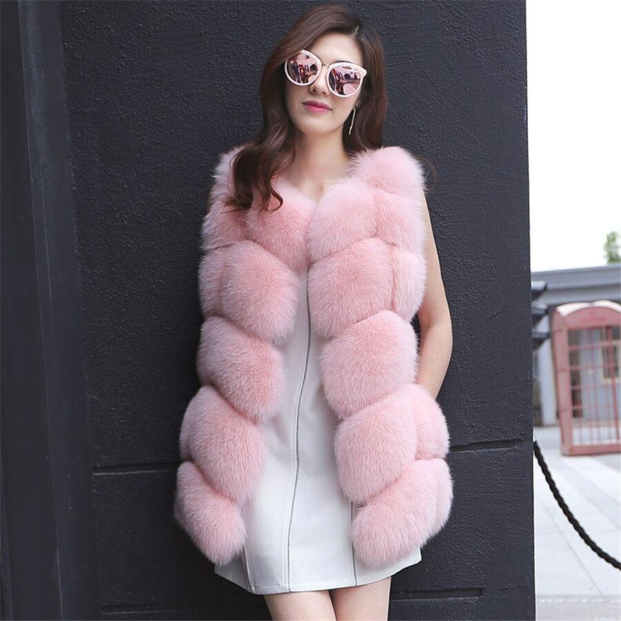 Sıcak Satış Orijinal Gerçek Fox Kürk kadın Kış Sıcak - Bayan Giyimi - Fotoğraf 2