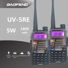 2 pièces BAOFENG UV-5RE talkie-walkie 5 W UHF VHF jambon CB Scanner Radio Station Portable bidirectionnelle Radio Hf émetteur-récepteur Mobile UV5RE(China)