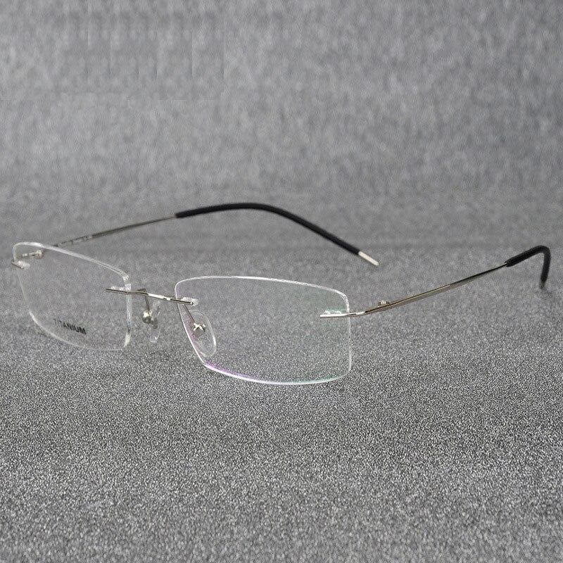 Gafas de titanio sin montura marco Super ligero Flexible aleación de titanio patas del templo gafas ópticas